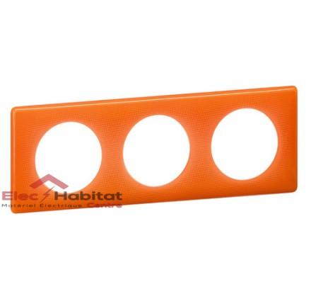 Plaque triple entraxe 71mm 70's orange Legrand 066653