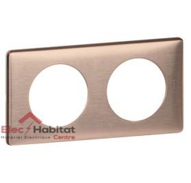 Plaque double Métal copper entraxe 71mm Legrand 068992