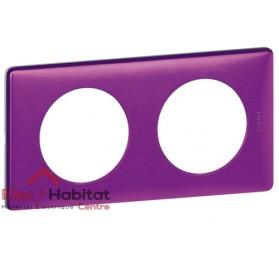Plaque double Métal violet irisé entraxe 71mm Legrand 068712