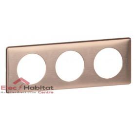 Plaque triple Métal copper entraxe 71mm Legrand 068993