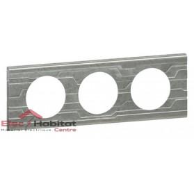 Plaque triple Matière furtif entraxe 71mm Legrand 069043