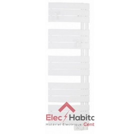 Radiateur sèche serviette NEFERTITI ETROIT blanc 500w mat à droite Atlantic 850506