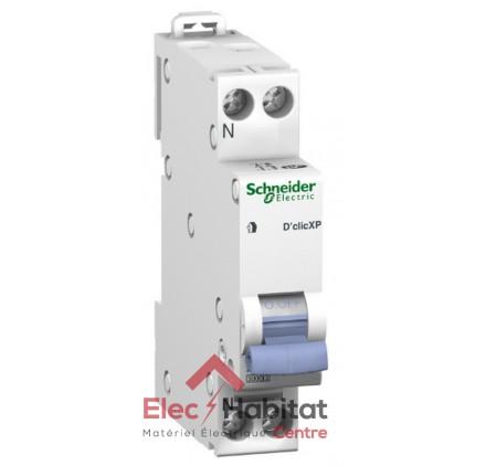 Lot de 12 disjoncteurs Ph+N 20A D'clic à vis Schneider 20727