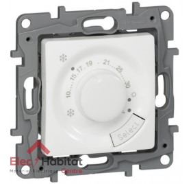 Thermostat d'ambiance de chauffage fil pilote Niloé blanc Legrand 664787