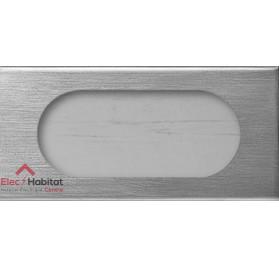 Plaque double 4/5 modules Matière inox brossé Legrand 069105