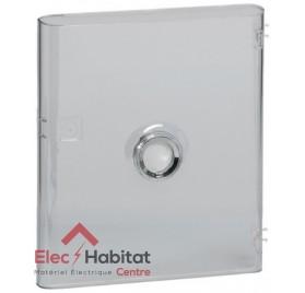 Porte transparente pour coffret 1 rangée ou communication Legrand 401341