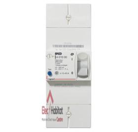 Disjoncteur de branchement bipolaire différentiel 500mA instantané 45A Legrand 401000