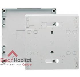 Porte opaque blanche pour bloc de commande monophasé Hager GP111P