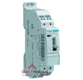 Contacteur heure creuse chauffe-eau 20A à bornes automatiques Hager ETS221B