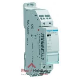 Contacteur de puissance 2F 20A à bornes automatiques Hager ESS220B