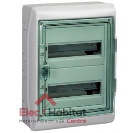 Tableau coffret électrique 2 rangées 36 modules étanche IP65 Schneider 13965