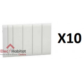 Lot de 10 obturateurs 5 modules pour coffret kaedra Schneider 13940