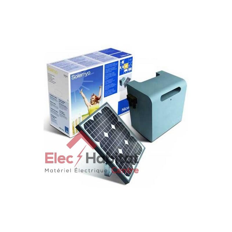 kit d 39 alimentation solaire pour motorisation nice solemyo sykce. Black Bedroom Furniture Sets. Home Design Ideas