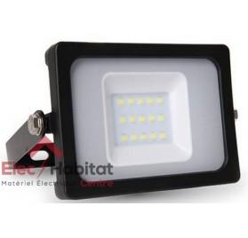 Projecteur LED noir 10w 800Lm IP65, 6400K blanc froid V-TAC VT-4611BBF
