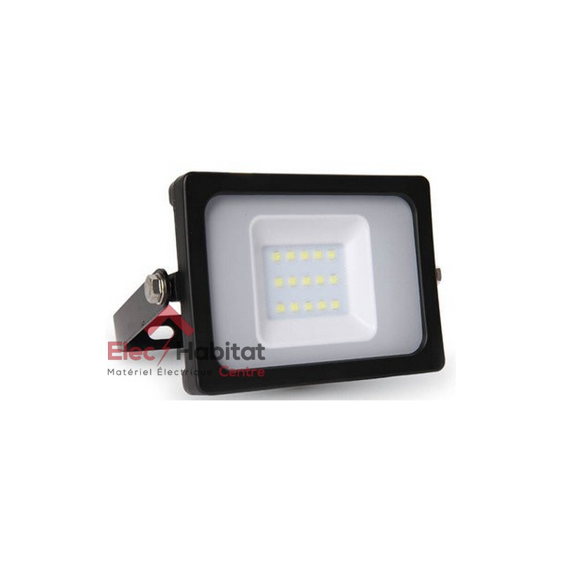 projecteur led noir 10w 800lm ip65 6400k blanc froid v tac vt 4611bbf. Black Bedroom Furniture Sets. Home Design Ideas