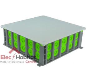 Boite encastrement placo 2x2 postes r/'box étanche prof.50mm Bizline 502240