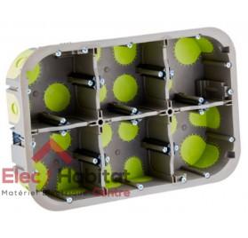 Boite encastrement placo 2x3 postes r'box étanche prof.50mm Bizline 500640