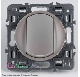 Bouton poussoir 6A Legrand Céliane titane 67031+68301+80251