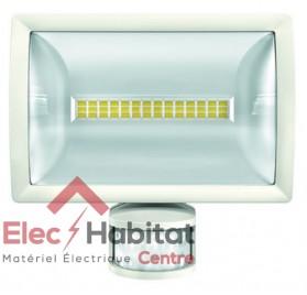 Projecteur LED avec détecteur blanc 20w theLeda E20 WH 1500Lm IP55, 4000K blanc froid Theben 1020913 (1020813)