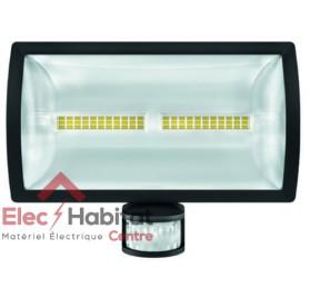 Projecteur LED avec détecteur noir 30w theLeda E30 BK 2310Lm IP55, 5000K blanc froid Theben 1020916