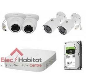 Kit vidéo-surveillance IP NVR 4K 80MBPS 4CH + 4 CAMÉRA IP + HD 1TB Dahua KIT-DHN414K