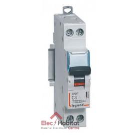 Disjoncteur Ph+N 3A DNX3 à vis Legrand 406863