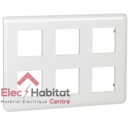 Plaque 2 x 3 x 2 modules Mosaic blanc Legrand 078832