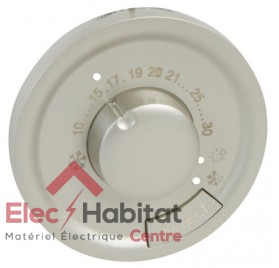 Enjoliveur thermostat d'ambiance Céliane titane Legrand 068540