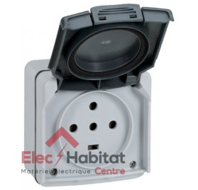 Prise de courant saillie étanche Plexo 3P+N+T 20A IP55 IK08 Legrand 091657
