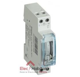 Horloge modulaire électromécanique 16A avec réserve de marche 1 module Legrand 412790