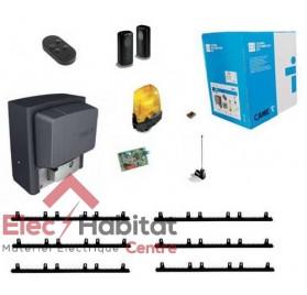 Kit motorisation de portail coulissant CAME BX78 230V U2643 + 6m crémaillère nylon
