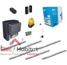 Kit motorisation pour portail coulissant CAME BX78 230V U2643 + 6m crémaillère galvanisée