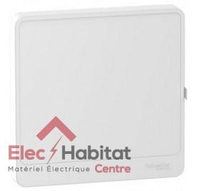 Porte blanche tableau électrique Resi9 1 rangée 13 modules Schneider R9H13421