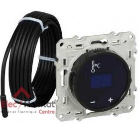 Thermostat à écran tactile Schneider Odace blanc S520509