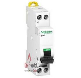 Disjoncteur DT40 1P+N 1A courbe C Schneider A9N21019