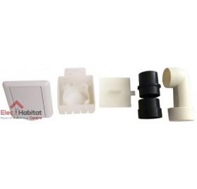 Kit prise carrée blanche diam.51mm centrale saphir KPC BL S&P France 620347