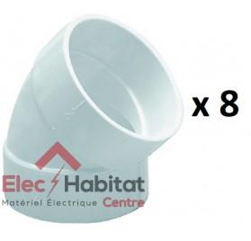 Coude à 45° blanc diamètre 51mm femelle/femelle centrale saphir CD R45FF S&P France 620364