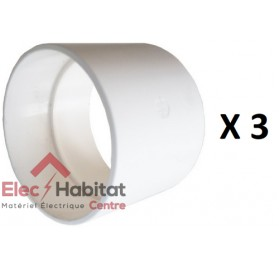 Adaptateur blanc diamètre 50/51mm F centrale saphir RED 50F/51F S&P France 620342