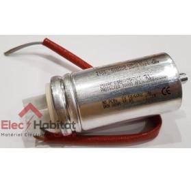 Condensateur 25µF avec cosses et câbles pour motorisation CAME 119RIR297