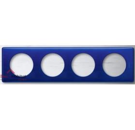 Plaque quadruple Métal nuit d'encre entraxe 71mm Legrand 068784
