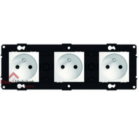 Triple prise 2P+T 16A Espace Evolution Blanc Arnould 64033