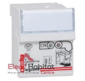 Cassette de rechange pour parafoudre protégé type 2 mono / tétra Legrand 003954