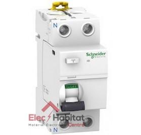 Interrupteur différentiel Acti9 2P 63A 30mA TYPE AC Schneider A9R11263