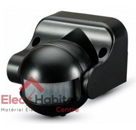 Détecteur de mouvement mural noir 180° IP44 VTAC VT-8003 SKU 5077