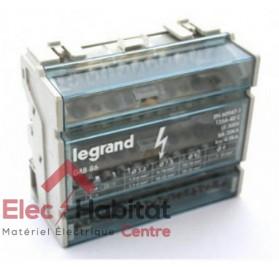 Répartiteur monobloc 4P à bornes 125A 6 modules Legrand 004886