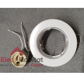 Kit spot encastré blanc LED fixe 230v GU10 modèle KSFSL