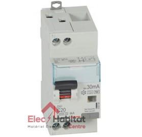 Disjoncteur diff DX3, 4500 -vis/vis- Uni+N 230V, 20A- type F-30mA -courbe C Legrand 410754