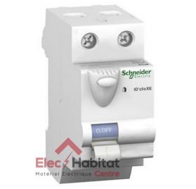 Interrupteur différentiel 2P 40A 30mA type A XE Schneider 16158