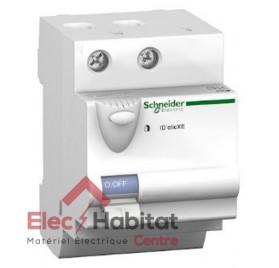 Interrupteur différentiel 2P 63A 30mA type A XE Schneider 16156