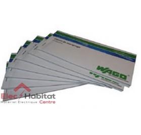 Carnet de marquage 60 étiquettes pour repérage Wago 8000-0100/1000-1000
